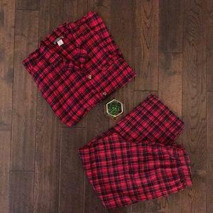 Men's Robes King 2XL Tall flannel plaid pajamas